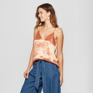NWT A New Day Women/'s Crepe Tie Shoulder Tank Top Shirt Blouse
